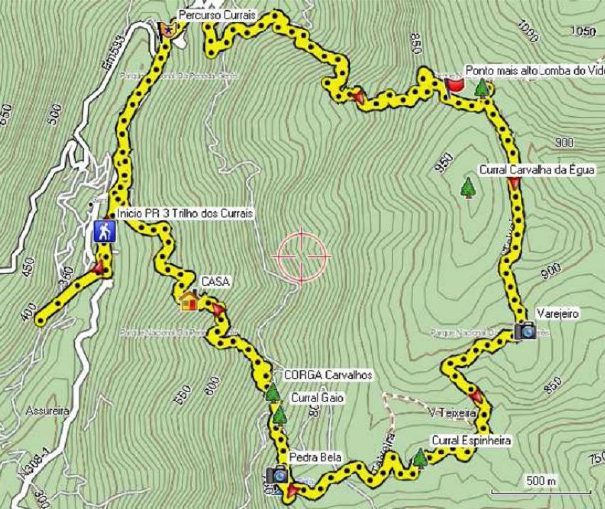 trilhos geres mapa O nosso rasto: PR3 Trilho dos Currais   Gerês trilhos geres mapa