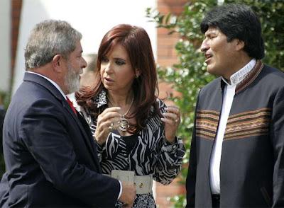 Lula, Kirchner y Morales
