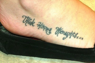 Foot Phrase Tattoos 95