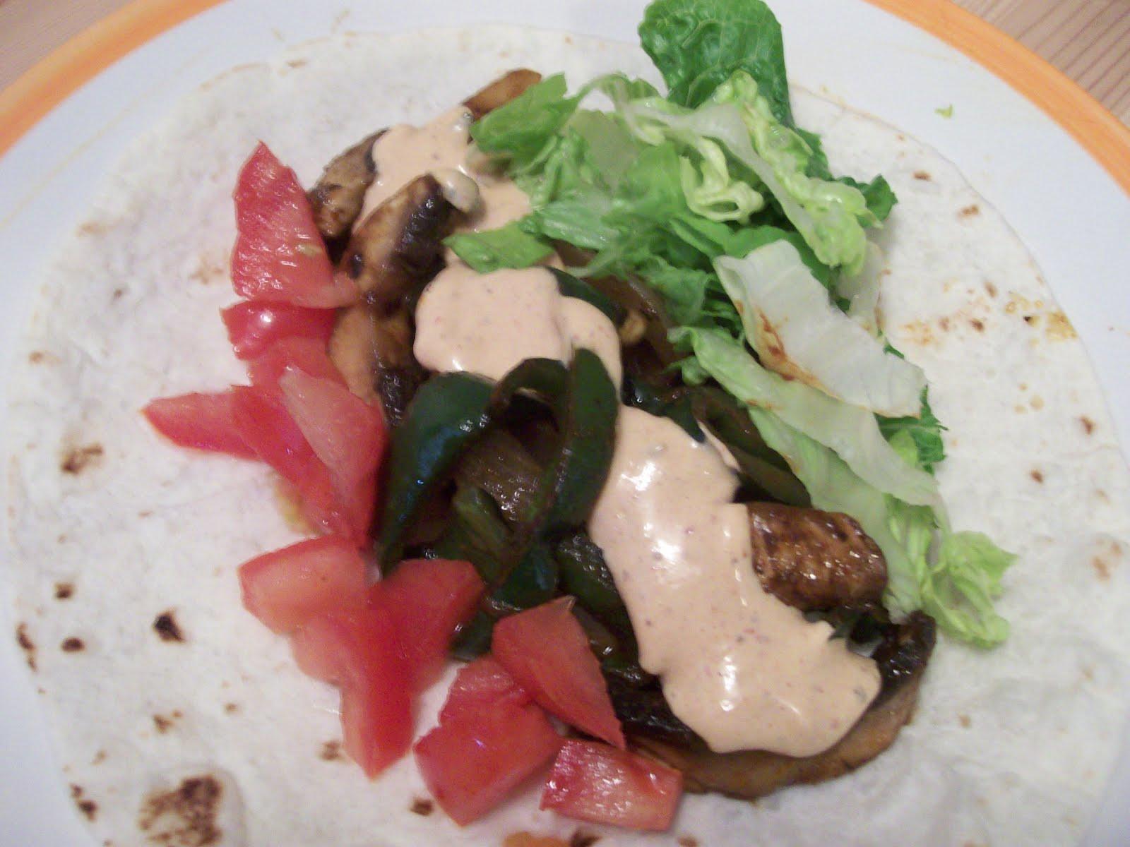 Vegan Luvies: Portobello & Poblano Tacos with Creamy Chipotle Sauce
