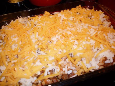 Homemade Beef-a-Roni, bake until bubbly and the cheese has a light crust.