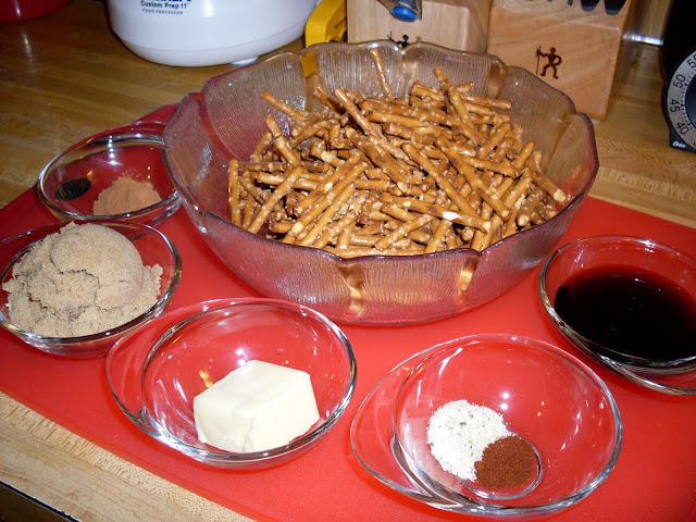 Roasted Pretzels, sweet, salty and delicious.