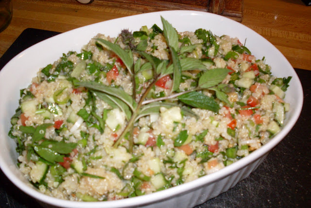 Quinoa Tabbouleh, fresh and bright, made with Quinoa grain