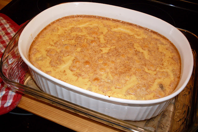 Creamy rice pudding, use brown or white rice for a delicious dessert.