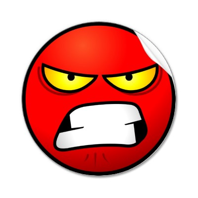 Angry face emoticon