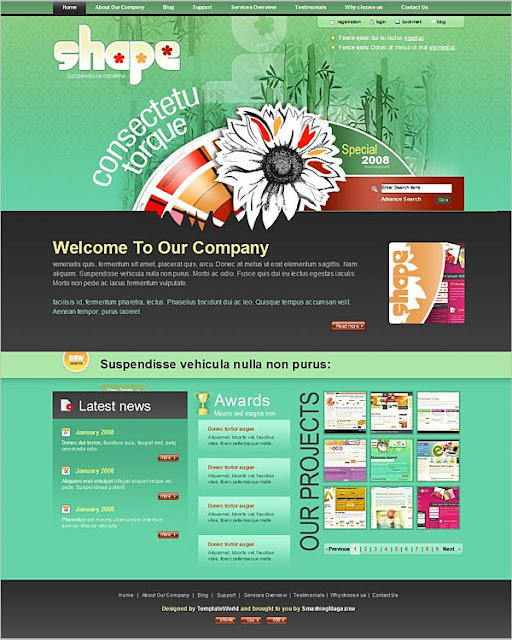 High-Quality Free PSD Website Templates to Download