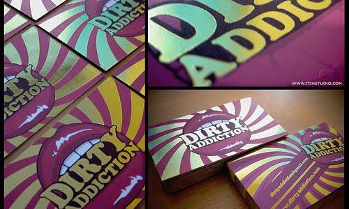 Dirty Addiction Business Card design