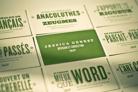 Jessica Genest Identity business card