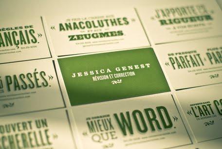 Jessica Genest Identity business card