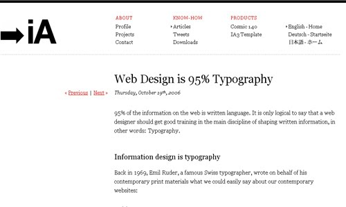 Web Design is Typography