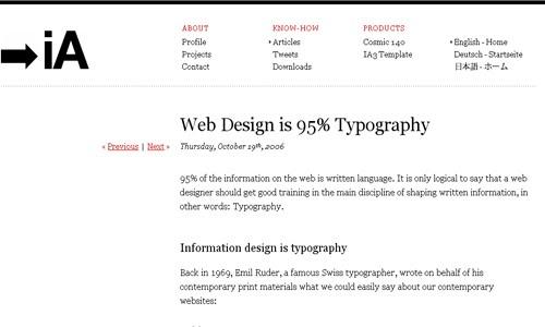Web Design is Typography