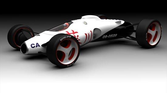 jet car 3d concept car design