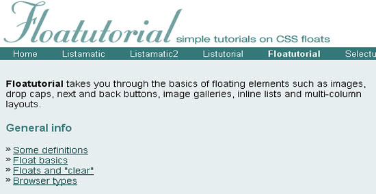 Step by step CSS float tutorial