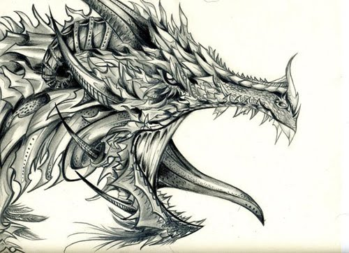 dragon art drawing
