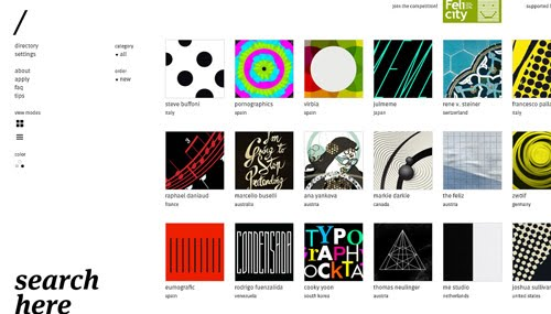 Typographic Posters web design