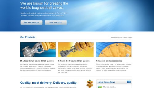 Gosco Valves web design
