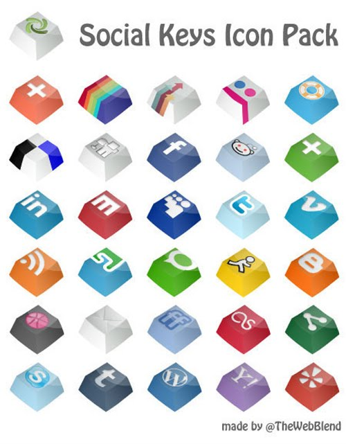 Social Keys Icon Pack