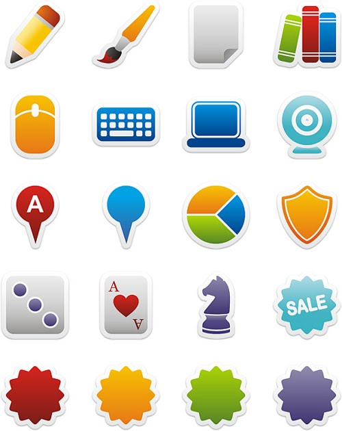 Colorful Stickers Part 6 Icons