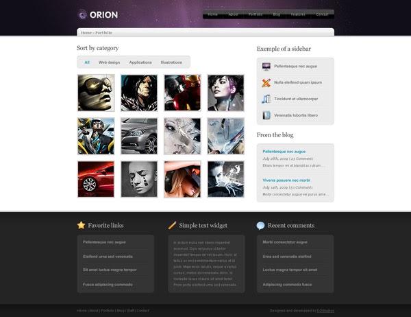 portfolio designs templates