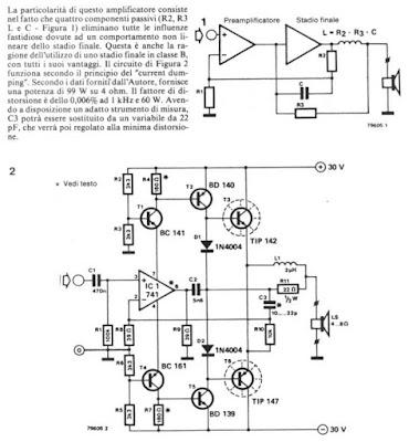 100w Audio Amplifier Schematic