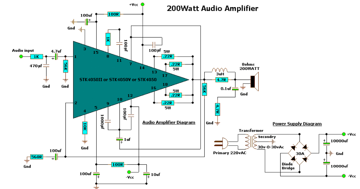 Amptda2002singleschematic Schematic Diagram Of The Audio Power