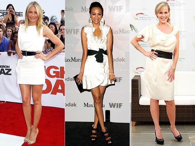 Won't You Be My Nabor: White dress, black belt = classic ...