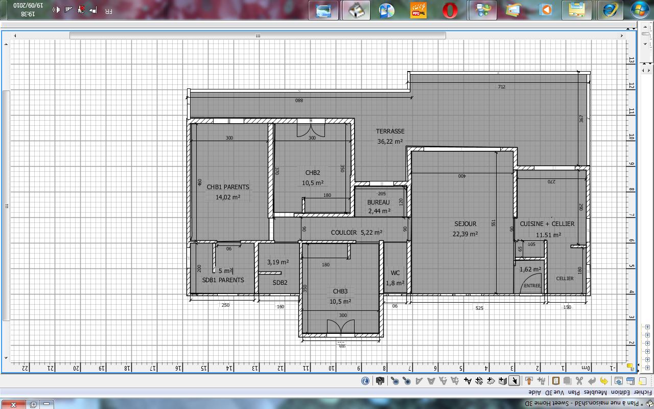 faire plan pour agrandissement maison. Black Bedroom Furniture Sets. Home Design Ideas