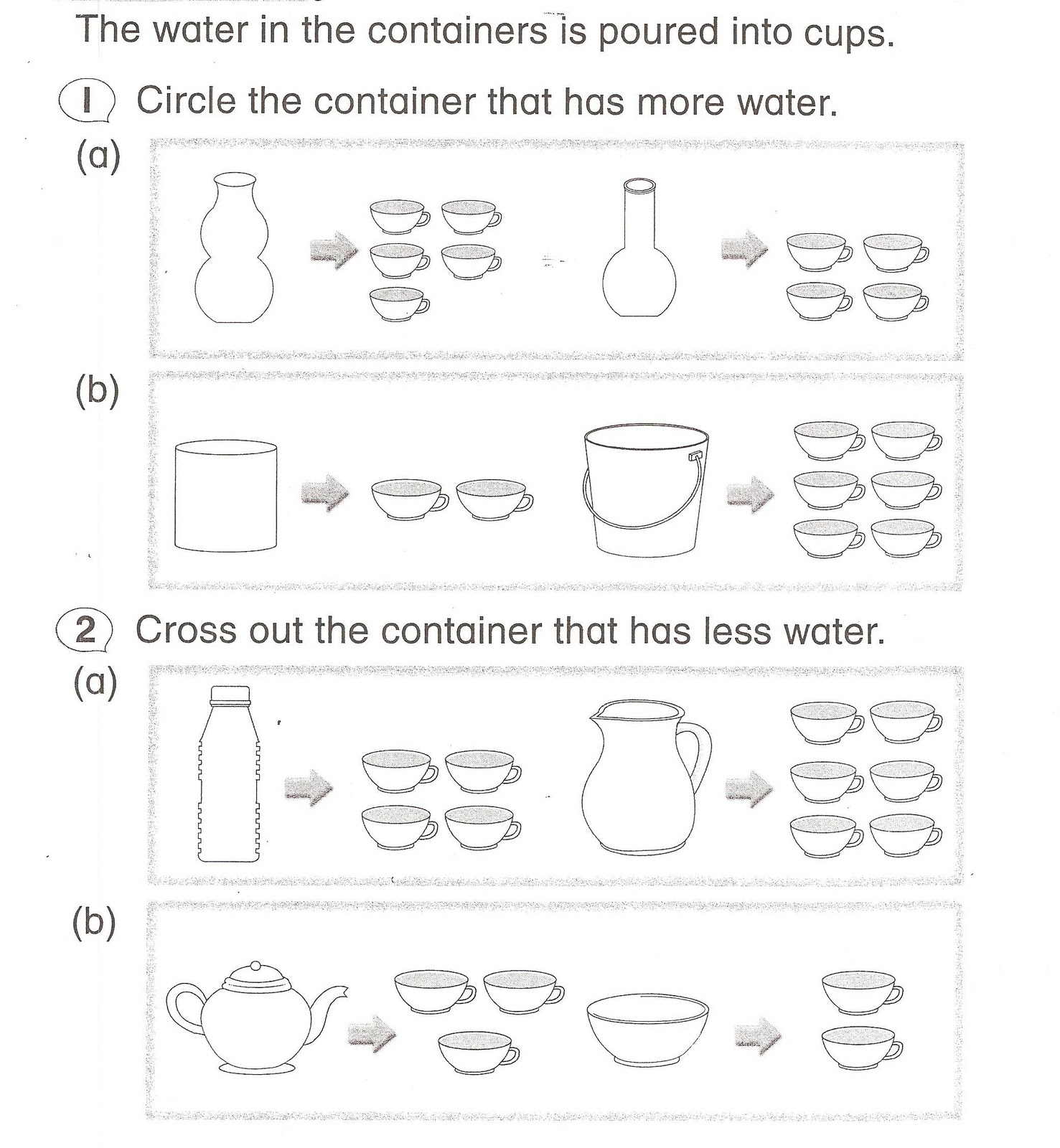 Volume Of Liquid 3 1 Topic 1 Measure And Compare Volume Of Liquid Using Non Standard Units