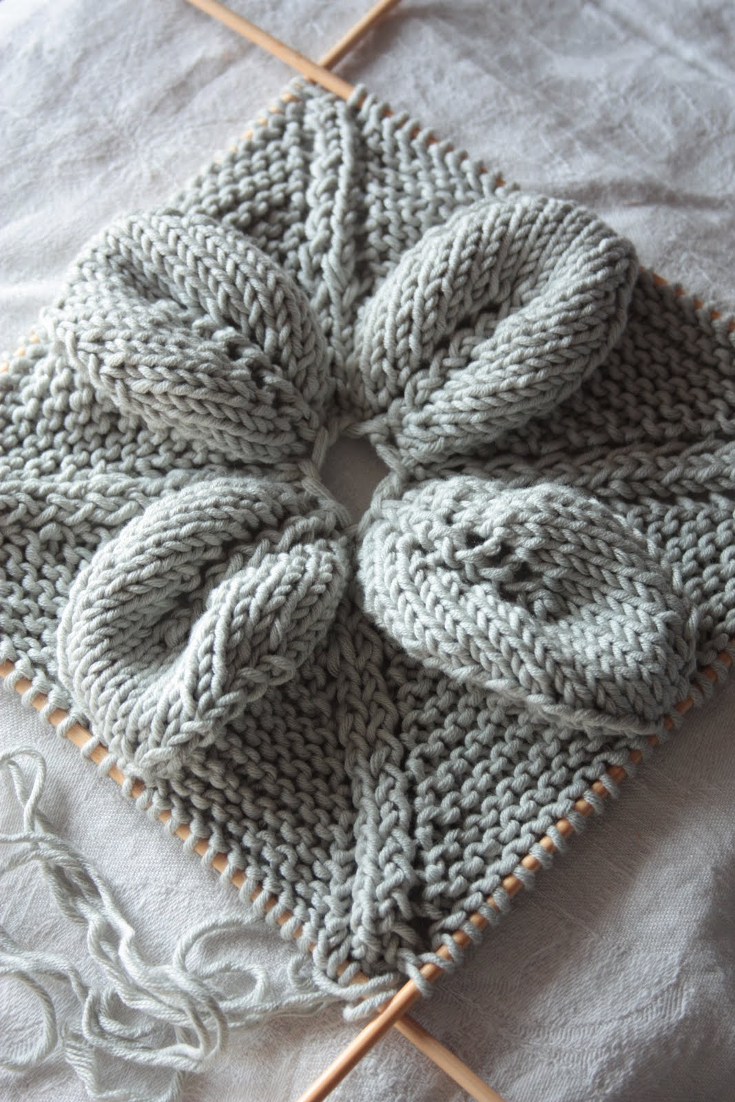 Needlework Inspiration Knitted Leaf Amp Lace Squares