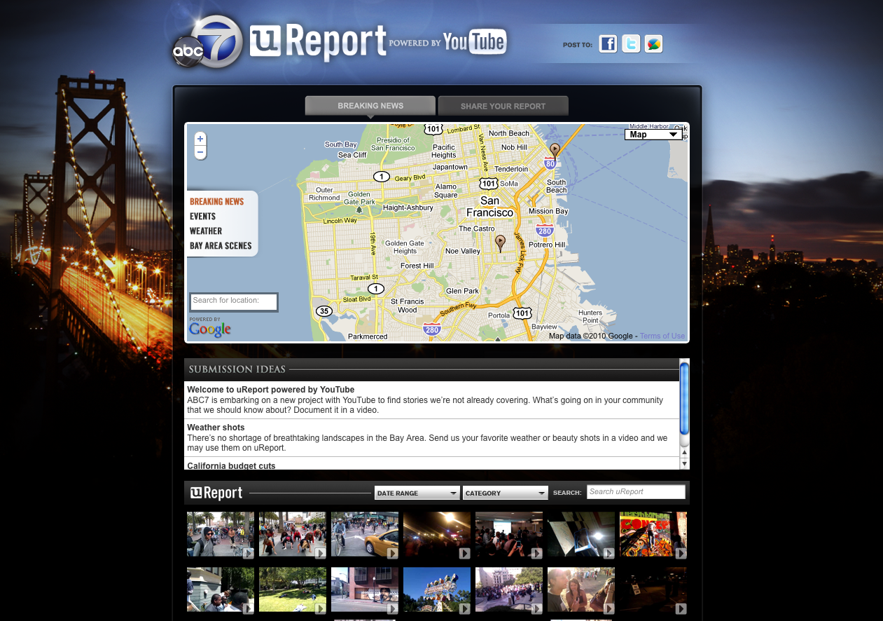 official youtube blog you report what u0027s happening now in the bay