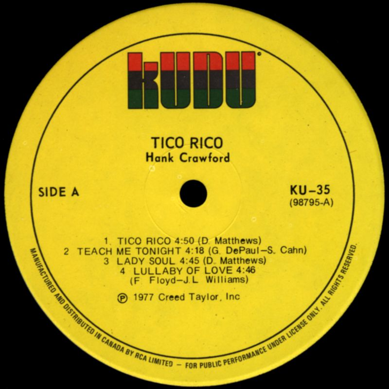 Soundological Investimigations Hank Crawford Tico Rico