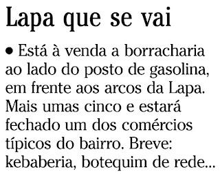 nota publicada na coluna GENTE BOA do SEGUNDO CADERNO do jornal O GLOBO de 22 de dezembro de 2009