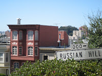 Houses on Russian Hill in San Francisco