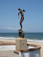 Angel sculpture in Puerto Vallarta Mexico