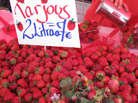 Strawberries at the market in Helsinki