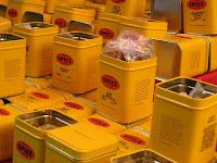 黄色罐头中出售的香料