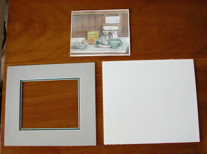 These Are The Items I Am Embling For Contents Of My Frame Mat Board Cut To Proper Size With A Window Out Art Show Through