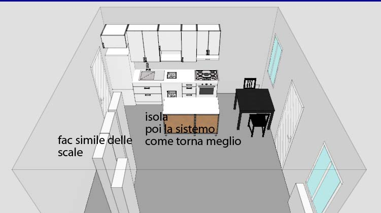 Progetto casa la cucina violetab for Progettare salotto