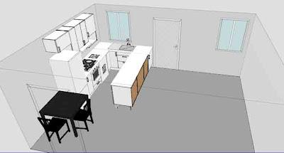 Progetto casa cucina a ferro di cavallo violetab - Cucina a ferro di cavallo ...
