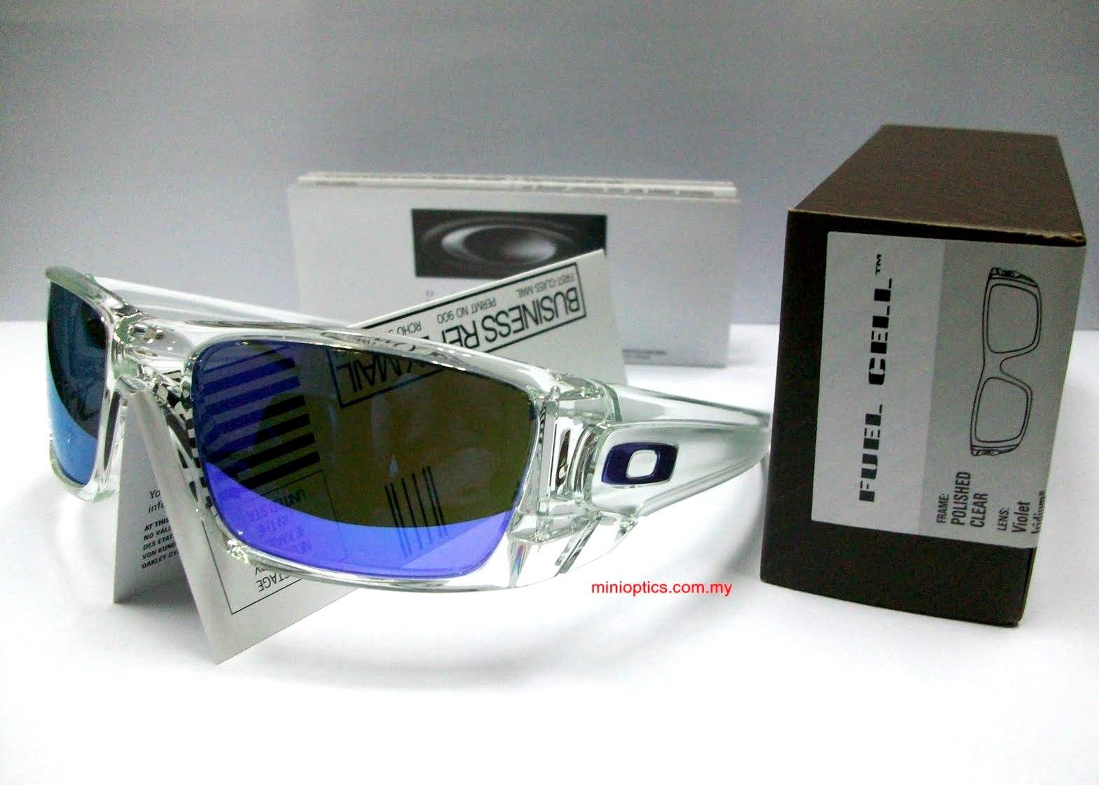 4bc3e505ef Oakley Fuel Cell Violet Iridium Lenses