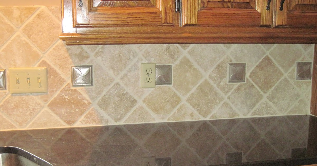 Drennon S Custom Tile Travertine Backsplash Diamond Pattern