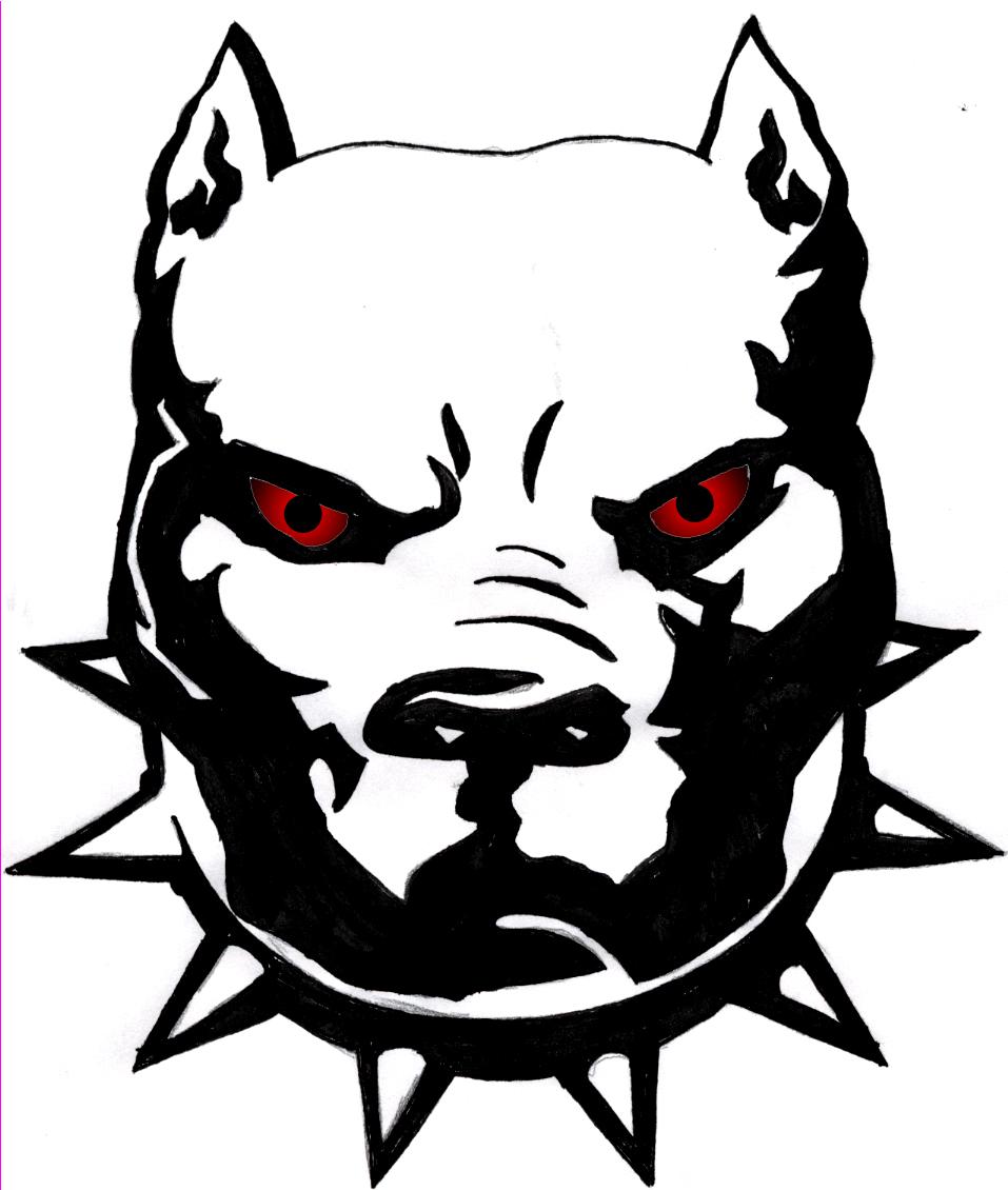 bully pit vector clipart vector design Buff Pit tattoo pitbull tattoos bully dog vector black bully