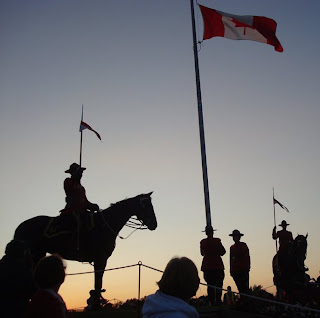 Canadian Mounted Police perform Musical Ride