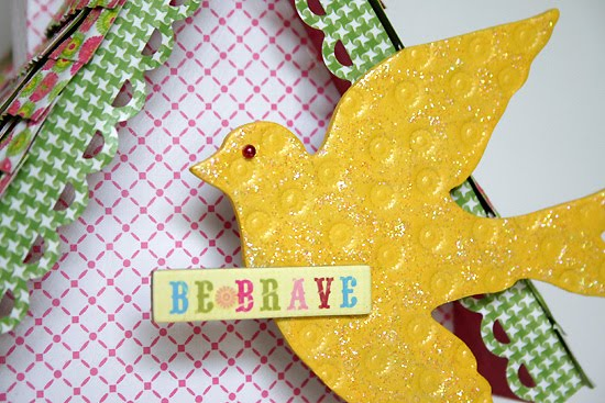 Be Brave Birdhouse by Juliana Michaels details