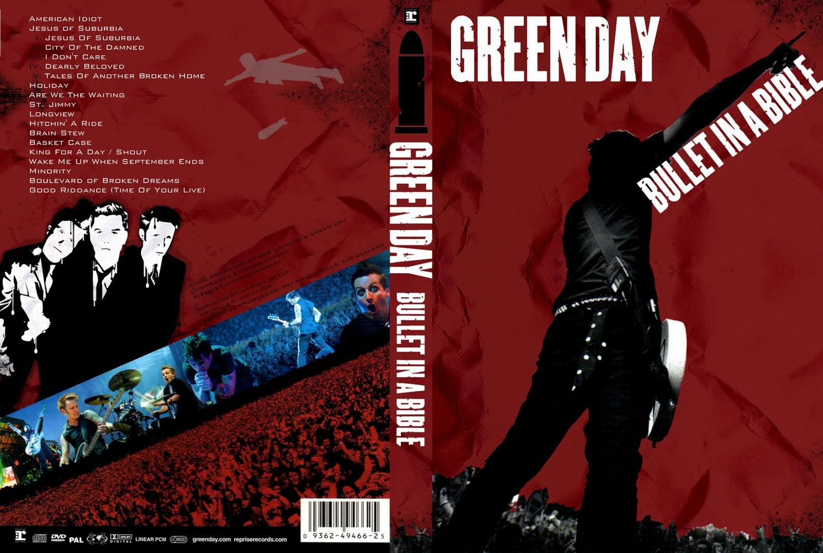 capas shows internacional green day bullet in a bible. Black Bedroom Furniture Sets. Home Design Ideas