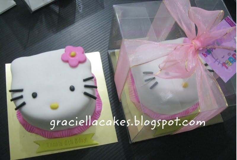 Hello Kitty Face Mini Cake