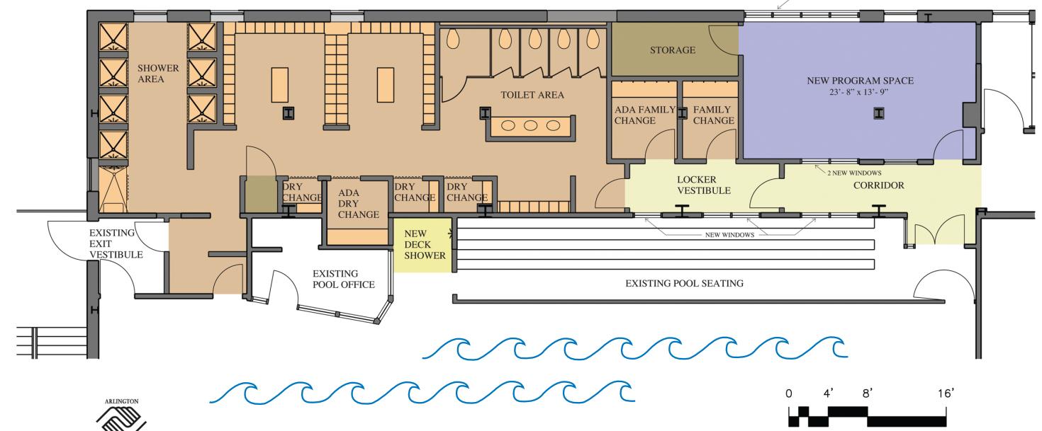 Locker Room And Toilet Floor Plan Design