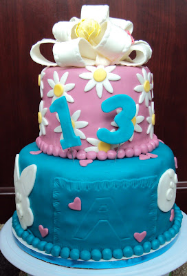 These She Wanted To Represent Past Cakes Her Daughter Has Had Teal Blue Is Favorite Color