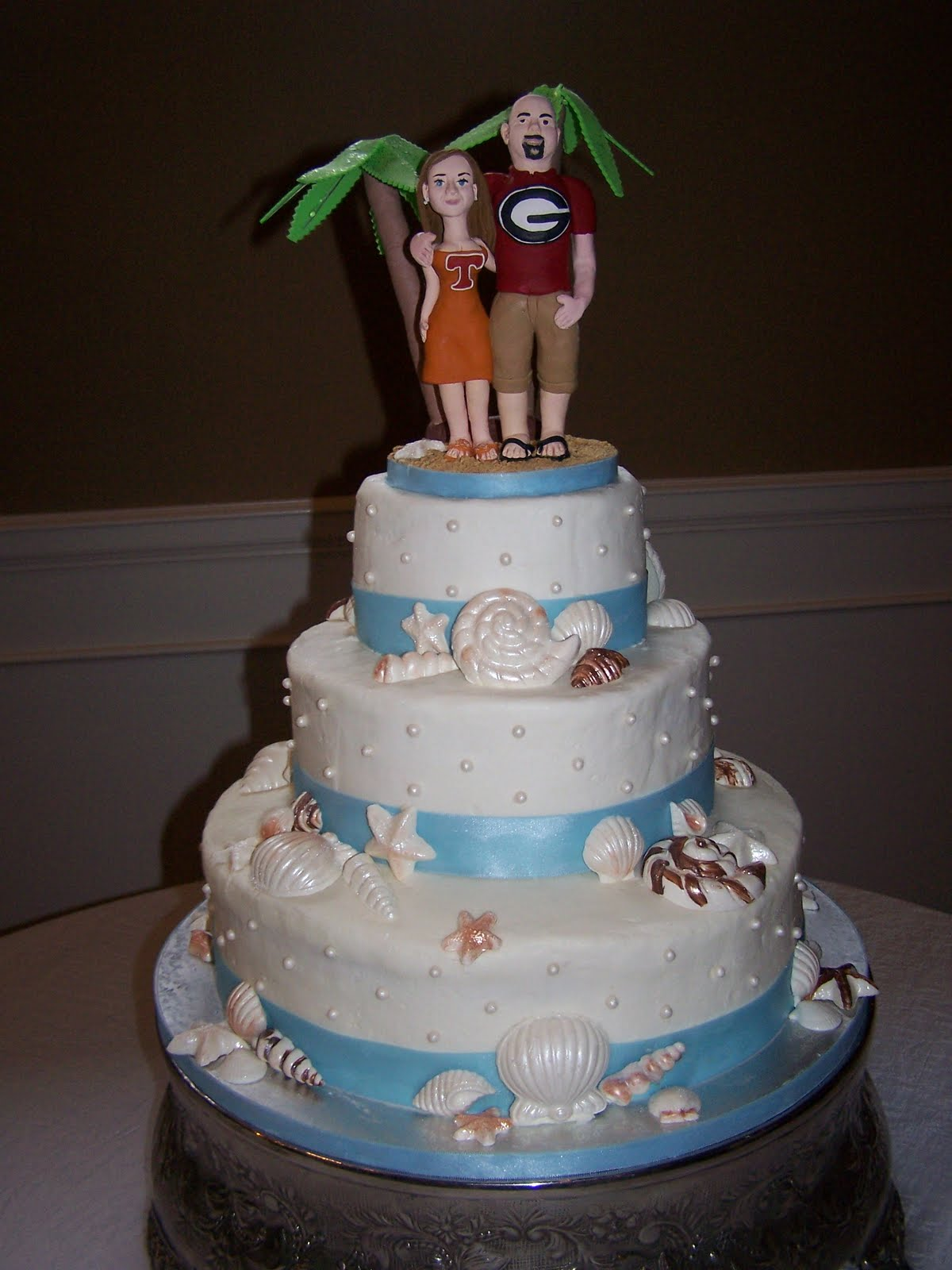 Creative Cakes N More Beach Theme Wedding Cake