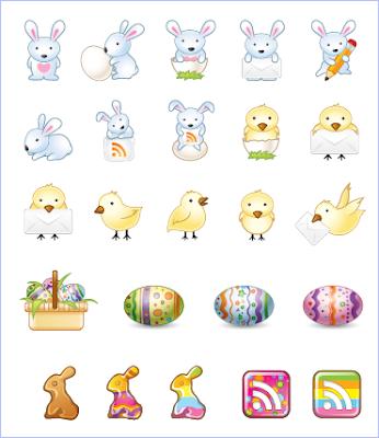 0 與 1 謎詭世界: 象徵春天來臨的復活節小兔子彩蛋圖示
